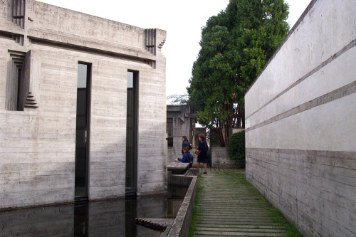 Carlos Scarpa at Brion Cemetary in an Vito d'Altivole Italy