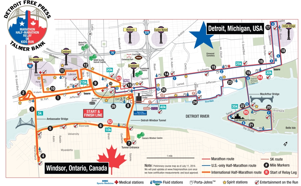 Marathon Course Map MASTER** 2014